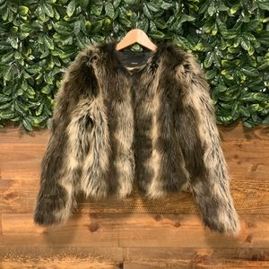 FOREVER 21 Brown Fur Jacket - Medium (like new!)